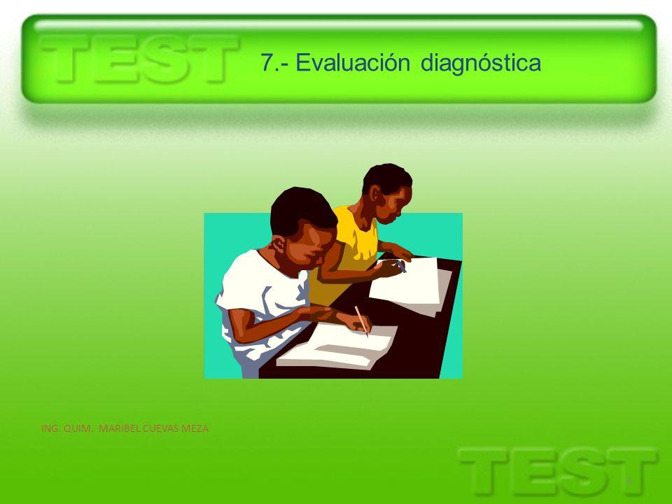7.- Evaluación diagnóstica 8