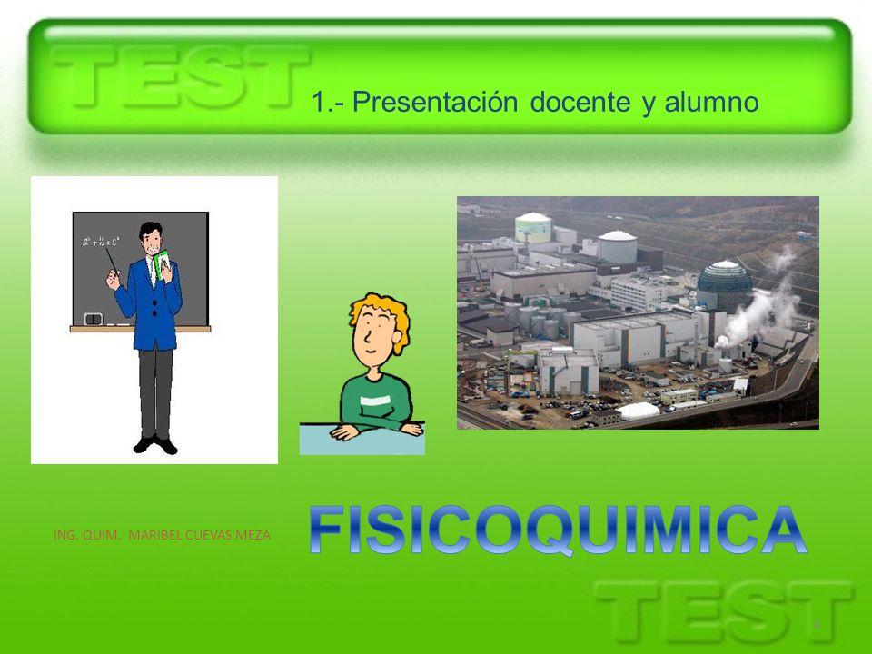 1.- Presentación docente y alumno ING. QUIM. MARIBEL CUEVAS MEZA 4