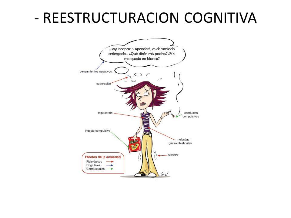 - REESTRUCTURACION COGNITIVA