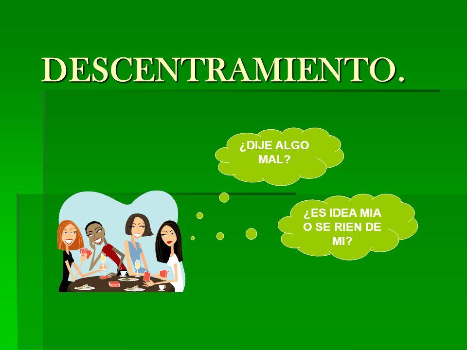 TÉCNICA DE DESCENTRAMIENTO.