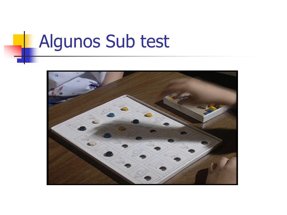 Algunos Sub test