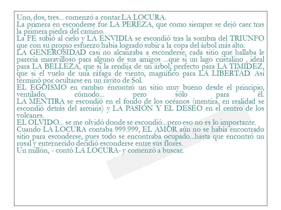 23/03/0923/03/09 Uno, dos, tres... comenzó a contar LA LOCURA.