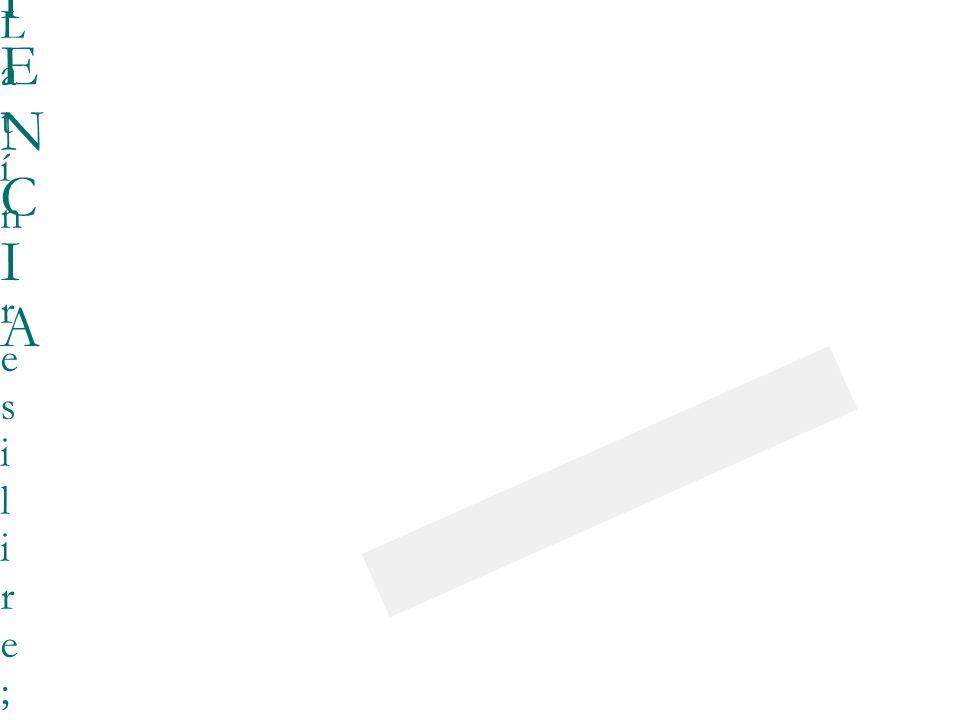 23/03/0923/03/09 RESILIENCIARESILIENCIA Latín resilire; rebotar, volver a entrar saltando, saltar hacia arriba, apartarse o desviarse.Uso en mecánica; aquellos materiales que tienen la virtud de recuperar su forma original después de haber sido sometidos a grandes presiones deformadoras.