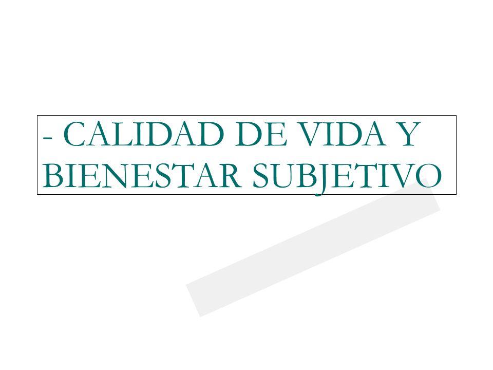23/03/0923/03/09 - CALIDAD DE VIDA Y BIENESTAR SUBJETIVO