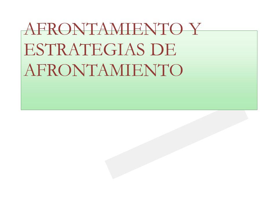23/03/0923/03/09 AFRONTAMIENTO Y ESTRATEGIAS DE AFRONTAMIENTO