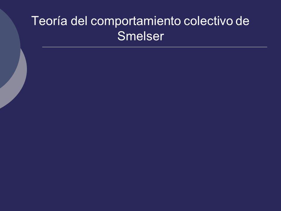 Teoría del comportamiento colectivo de Smelser
