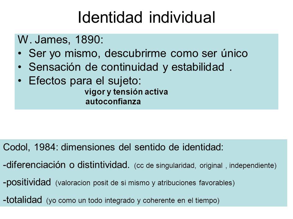Identidad individual W.