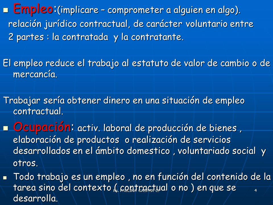 Ps. PAULINA GASPAR C. 4 Empleo: (implicare – comprometer a alguien en algo). Empleo: (implicare – comprometer a alguien en algo). relación jurídico co