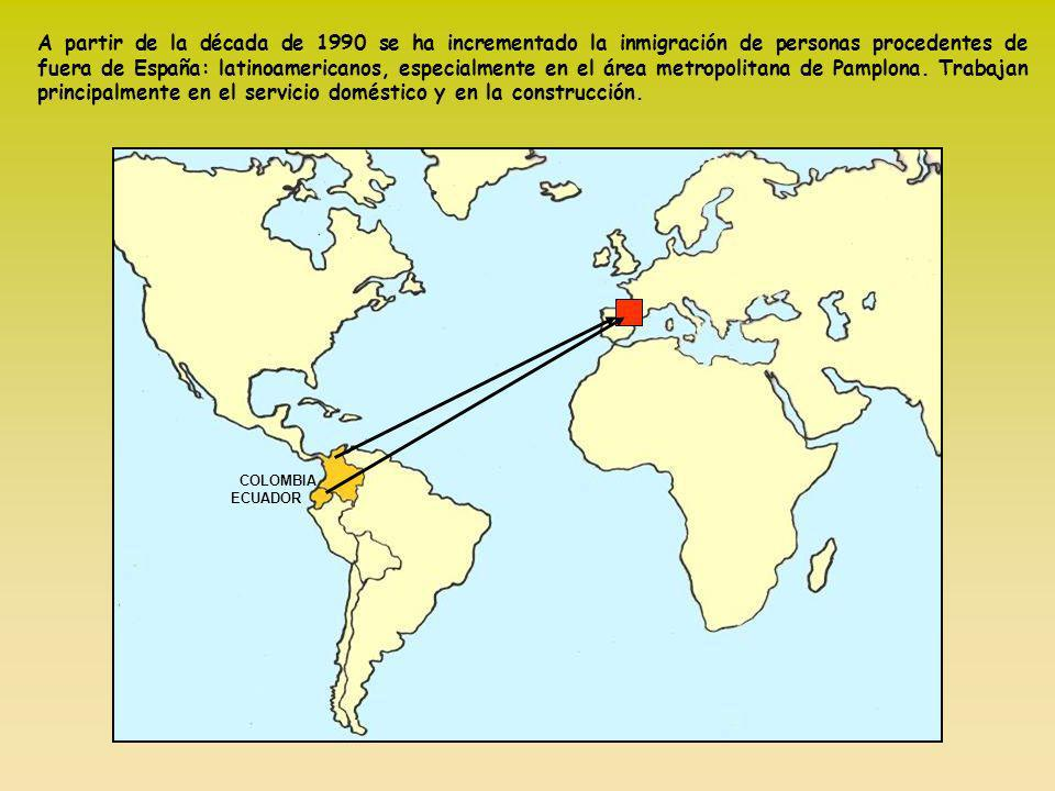 A partir de la década de 1990 se ha incrementado la inmigración de personas procedentes de fuera de España: latinoamericanos, especialmente en el área