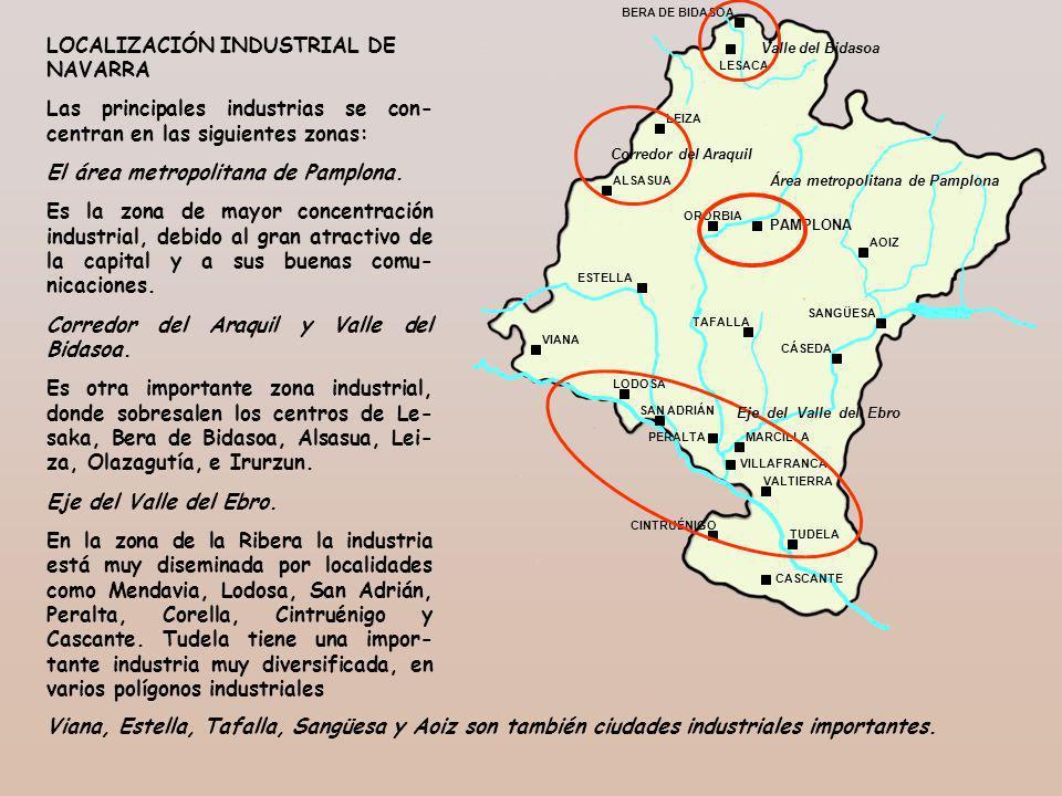 PAMPLONA ORORBIA BERA DE BIDASOA LESACA LEIZA ALSASUA ESTELLA AOIZ SANGÜESA TAFALLA CÁSEDA VIANA LODOSA SAN ADRIÁN PERALTAMARCILLA VILLAFRANCA VALTIER