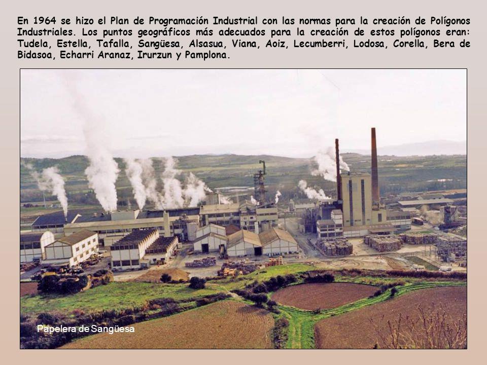 En 1964 se hizo el Plan de Programación Industrial con las normas para la creación de Polígonos Industriales. Los puntos geográficos más adecuados par