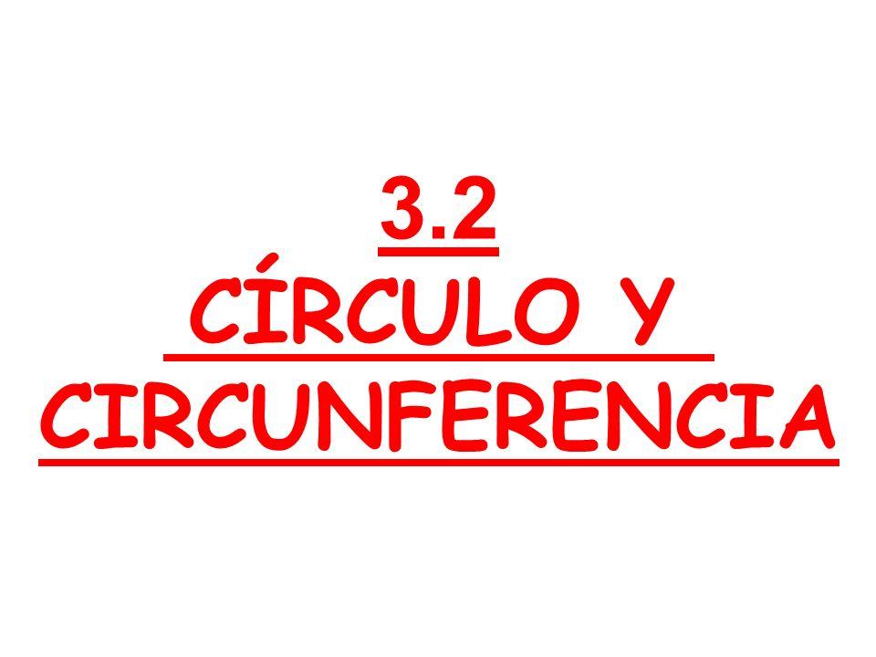 3.2 CÍRCULO Y CIRCUNFERENCIA