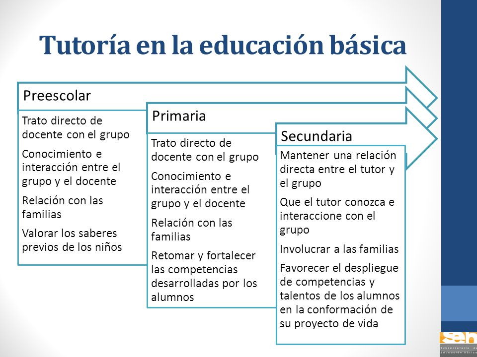 Tutoría en la educación básica Preescolar Trato directo de docente con el grupo Conocimiento e interacción entre el grupo y el docente Relación con la