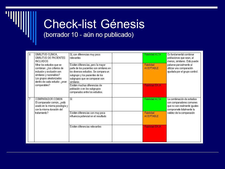 Check-list Génesis (borrador 10 - aún no publicado)