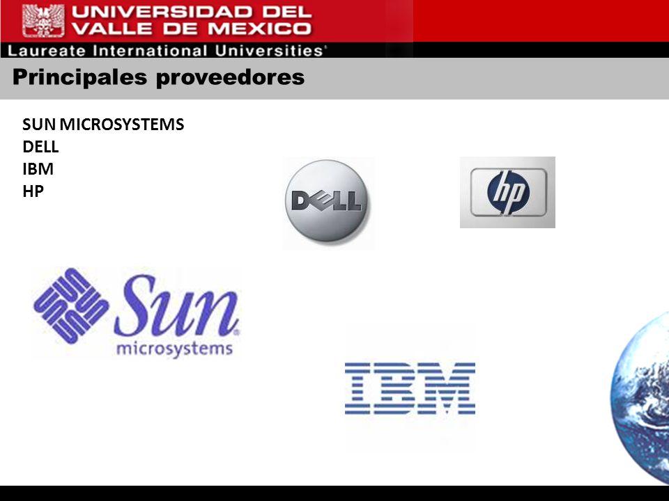 Principales proveedores SUN MICROSYSTEMS DELL IBM HP