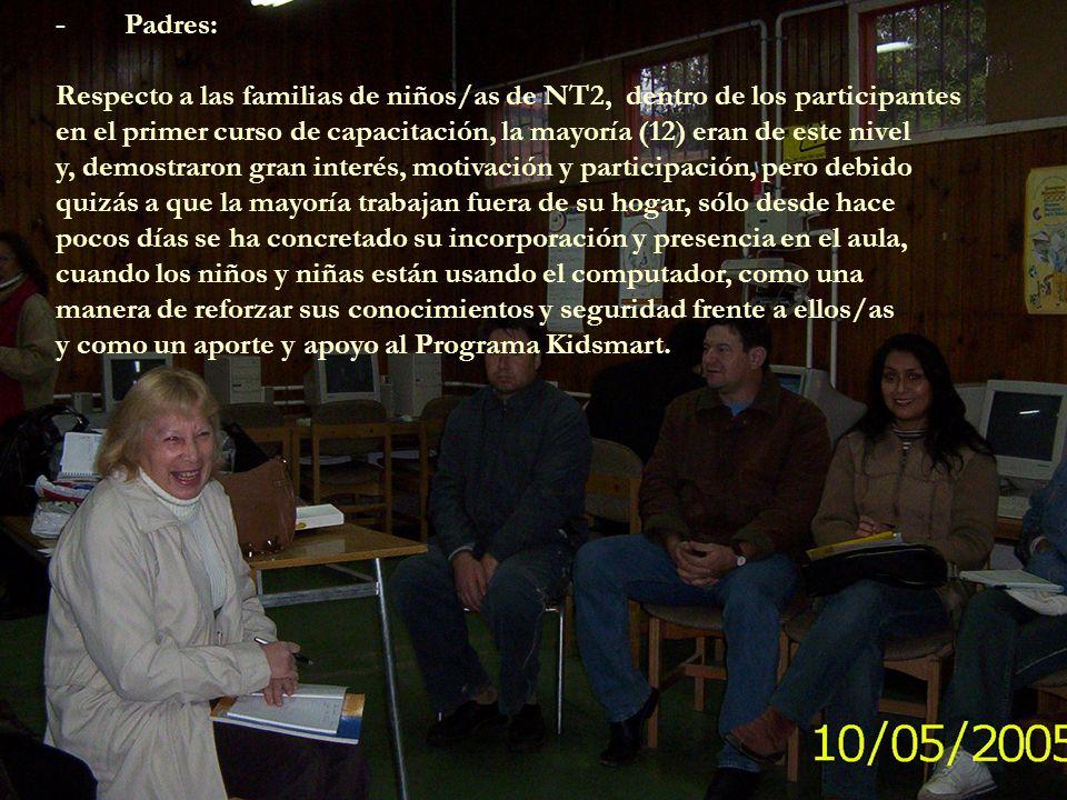 - En NT2: Se dio un retraso en el inicio del uso del equipo Young Explorer, debido a que no se contaba con los parlantes que se requerían para disfrutar los recursos multimediales de los softwares a conocer.