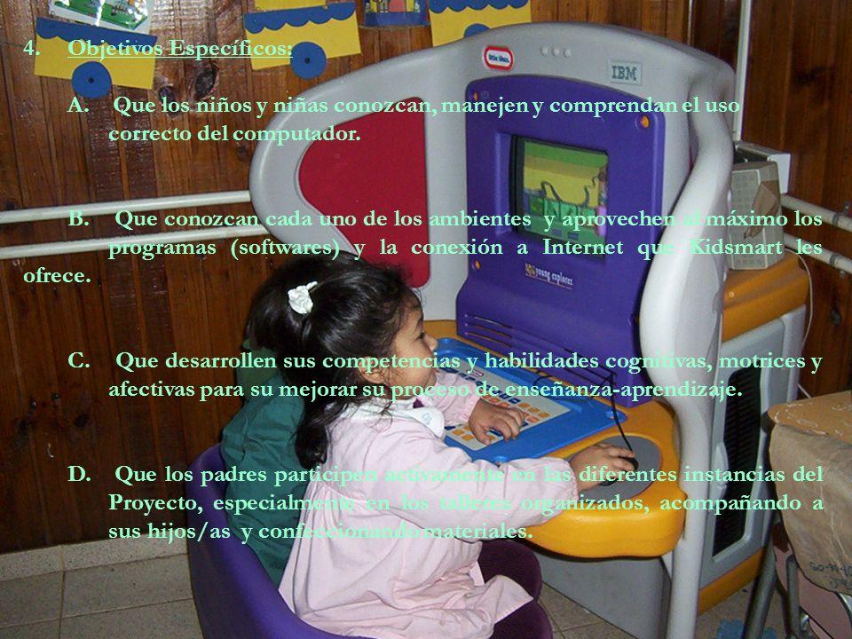 3. Problema o necesidad a atender: Un alto porcentaje de nuestros niños, niñas y sus familias, no tienen acceso al uso del computador ni a Internet po
