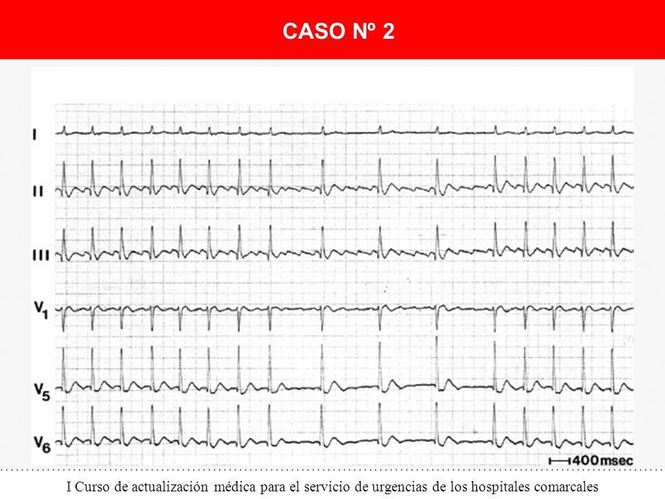I Curso de actualización médica para el servicio de urgencias de los hospitales comarcales CASO Nº 2