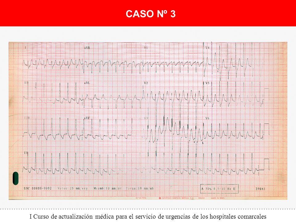 I Curso de actualización médica para el servicio de urgencias de los hospitales comarcales CASO Nº 3