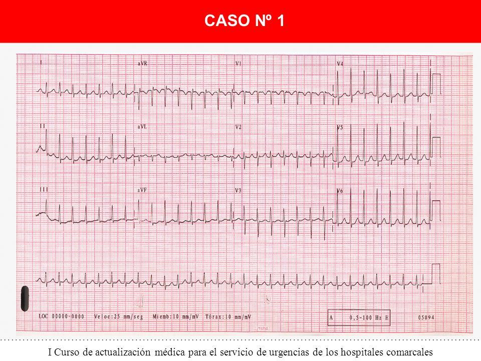 I Curso de actualización médica para el servicio de urgencias de los hospitales comarcales CASO Nº 1