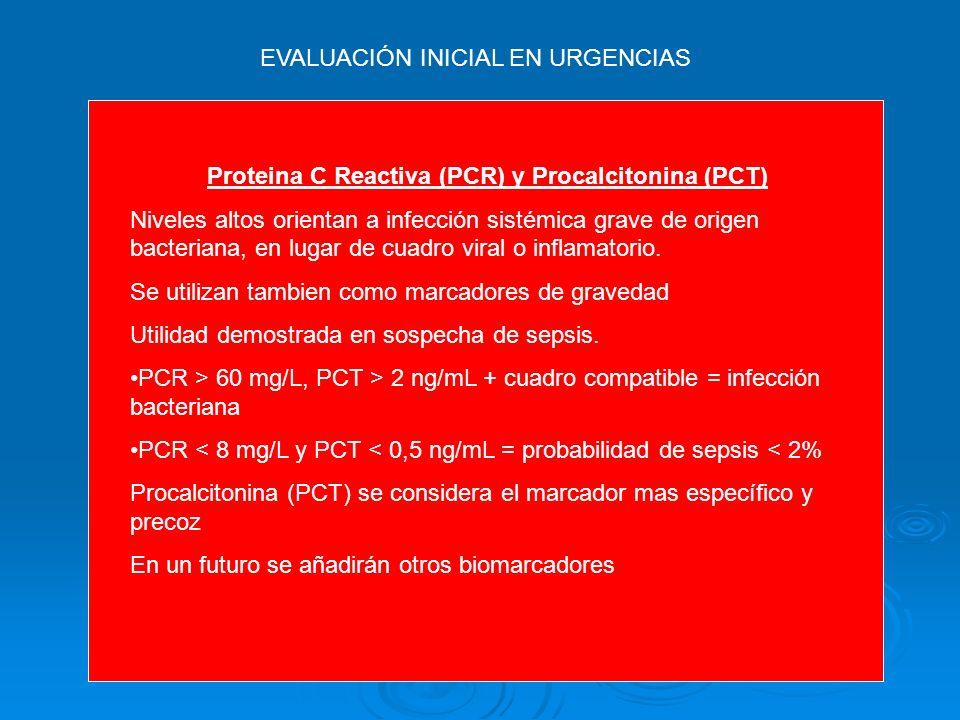 EVALUACIÓN INICIAL EN URGENCIAS Criterios diagnósticos de sepsis Parámetros INFLAMATORIOS Leucocitosis > 12.000 Leucopenia < 4.000 Desviación izquierd
