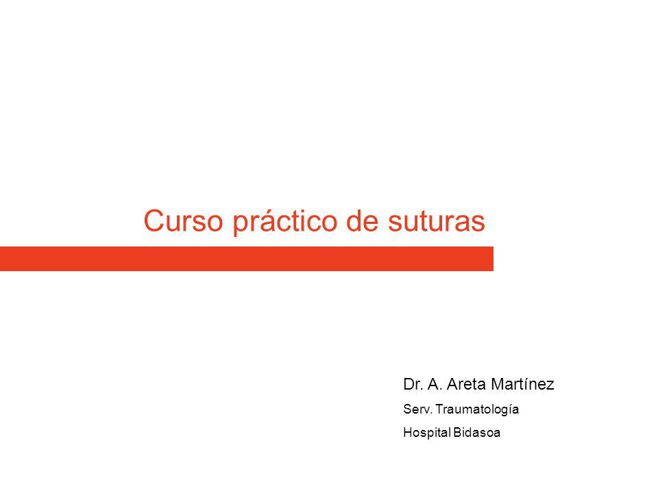 Curso práctico de suturas Dr. A. Areta Martínez Serv. Traumatología Hospital Bidasoa