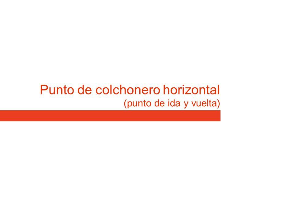 Punto de colchonero horizontal (punto de ida y vuelta)