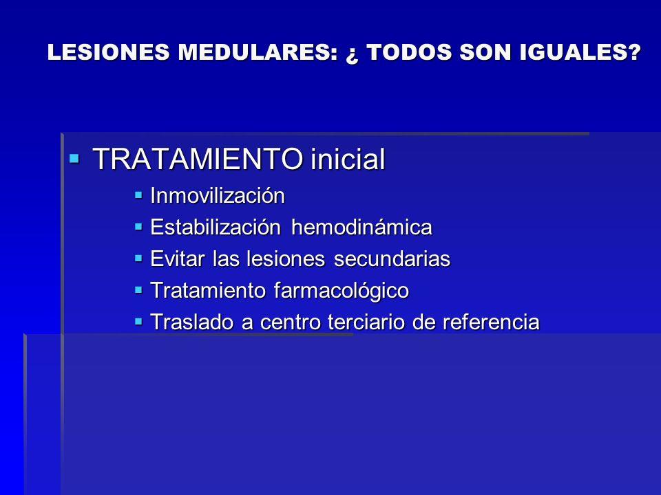 TRATAMIENTO inicial TRATAMIENTO inicial Inmovilización Inmovilización Estabilización hemodinámica Estabilización hemodinámica Evitar las lesiones secu