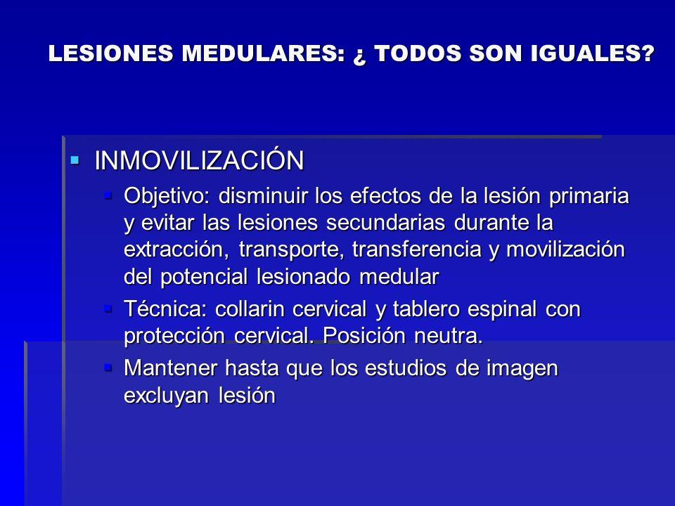 INMOVILIZACIÓN INMOVILIZACIÓN Objetivo: disminuir los efectos de la lesión primaria y evitar las lesiones secundarias durante la extracción, transport