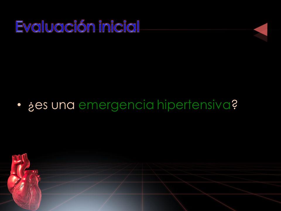 En emergencia hipertensiva : Rápida corrección de la PA.