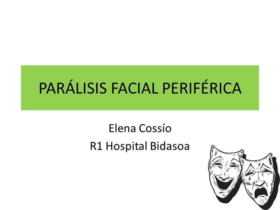 PERIFÉRICA vs CENTRAL PARÁLISIS FACIAL PERIFÉRICA Habitualmente precedida de proceso catarral vírico Instauración rápida (horas a 1 día) Disminución o pérdida de mov en todos los musc faciales ipsilaterales, tanto sup como inf.