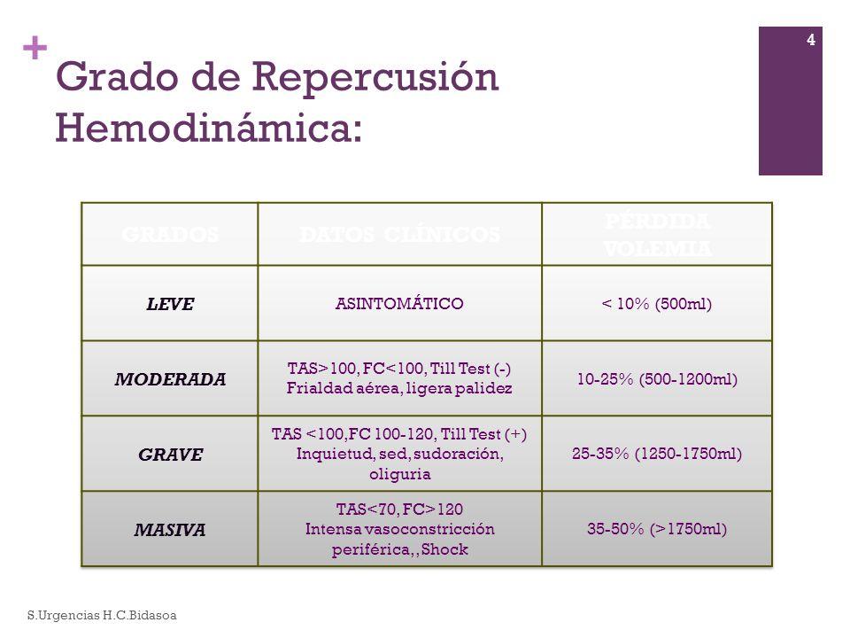 + Grado de Repercusión Hemodinámica: S.Urgencias H.C.Bidasoa 4