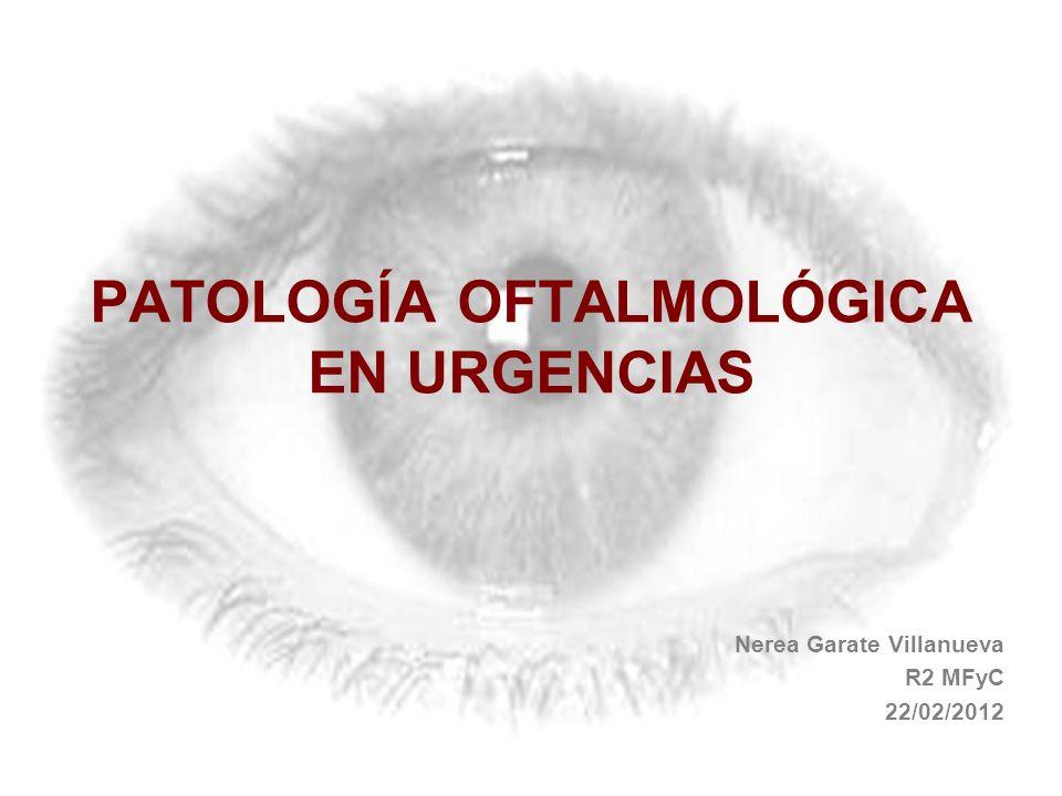 PATOLOGÍA OFTALMOLÓGICA EN URGENCIAS Nerea Garate Villanueva R2 MFyC 22/02/2012