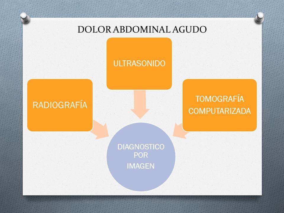 DOLOR ABDOMINAL AGUDO DIAGNOSTICO POR IMAGEN RADIOGRAFÍA ULTRASONIDO TOMOGRAFÍA COMPUTARIZADA