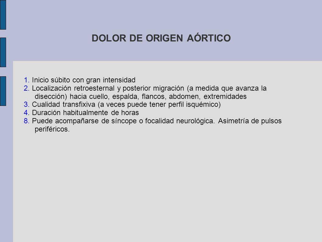 DOLOR DE ORIGEN PERICÁRDICO Puede ser similar al pleurítico 2.