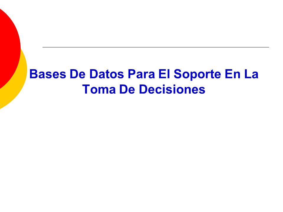 Bases De Datos Para El Soporte En La Toma De Decisiones
