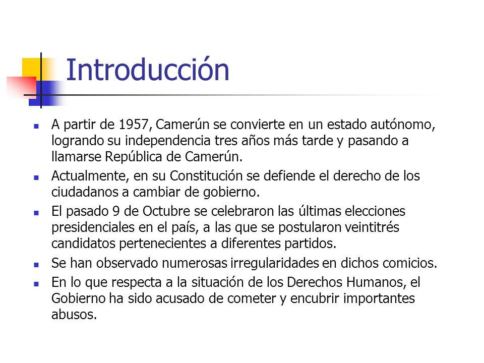 Ciclo de vida del problema Hacia 1963 Ahidjo logró establecer la plena autoridad de su régimen.