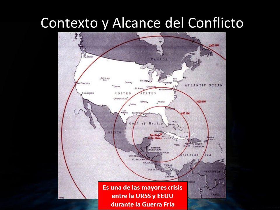 Contexto y Alcance del Conflicto Es una de las mayores crisis entre la URSS y EEUU durante la Guerra Fría