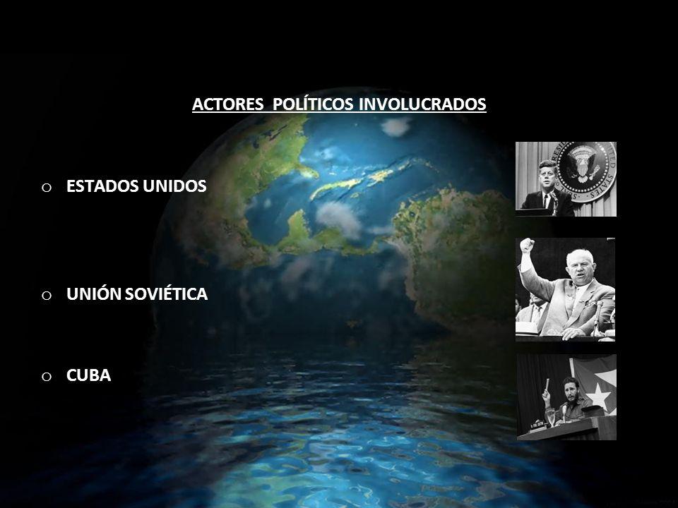 ACTORES POLÍTICOS INVOLUCRADOS o ESTADOS UNIDOS o UNIÓN SOVIÉTICA o CUBA