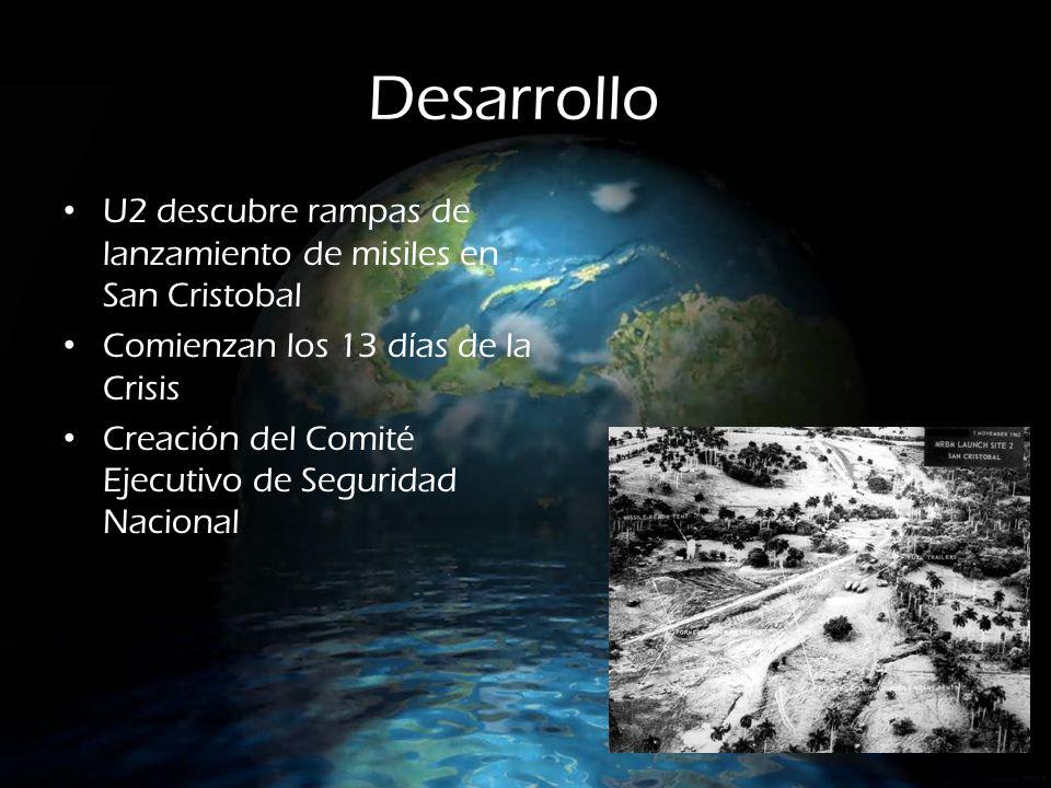 Desarrollo U2 descubre rampas de lanzamiento de misiles en San Cristobal Comienzan los 13 días de la Crisis Creación del Comité Ejecutivo de Seguridad Nacional