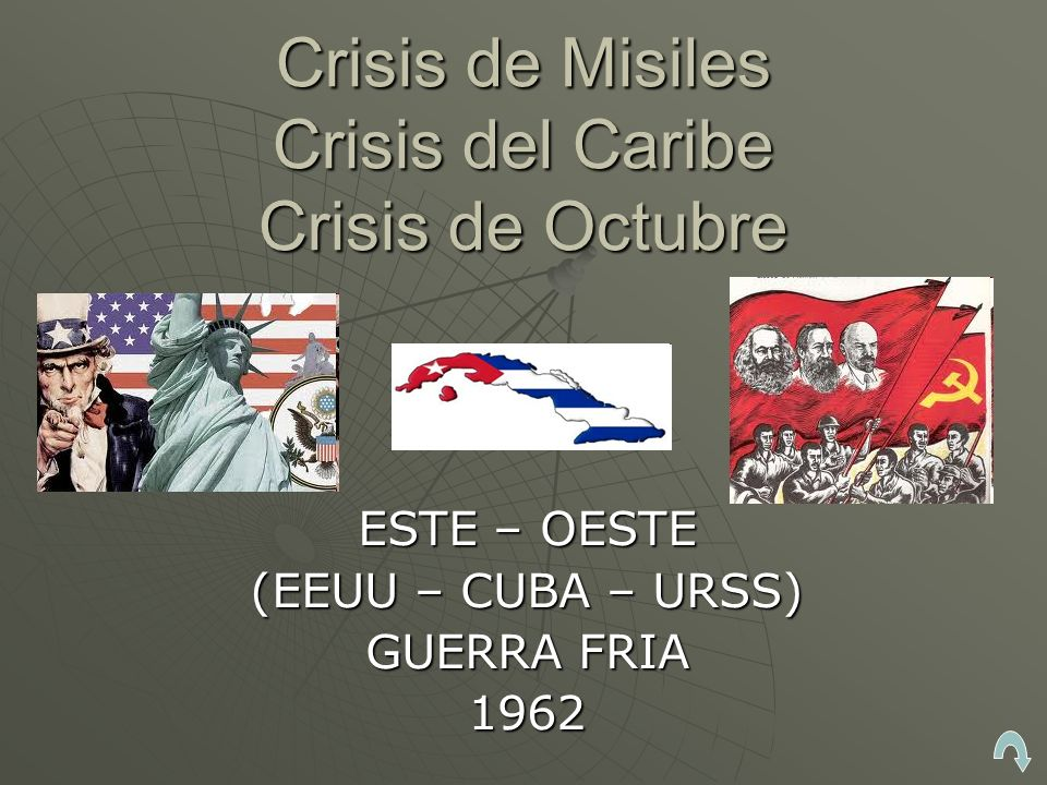 Crisis de Misiles Crisis del Caribe Crisis de Octubre ESTE – OESTE (EEUU – CUBA – URSS) GUERRA FRIA 1962
