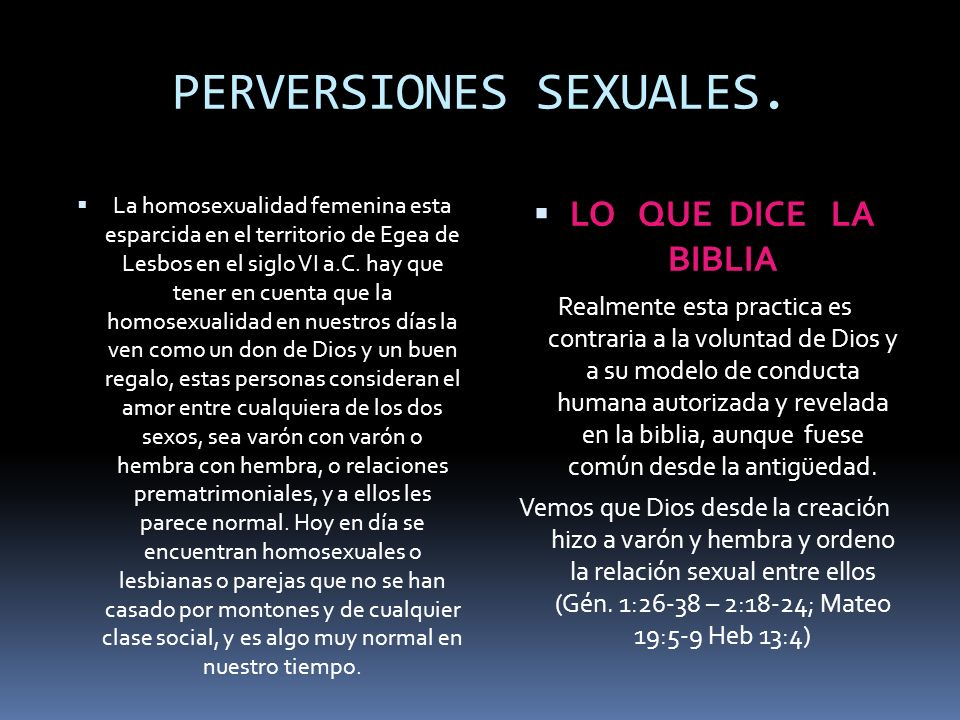 PERVERSIONES SEXUALES.