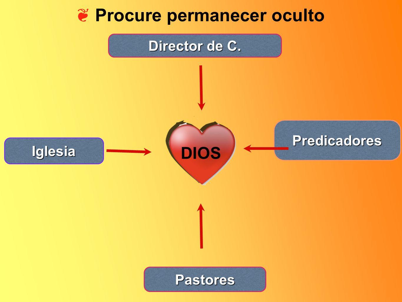 Procure permanecer oculto DIOS Director de C. Predicadores Iglesia Pastores