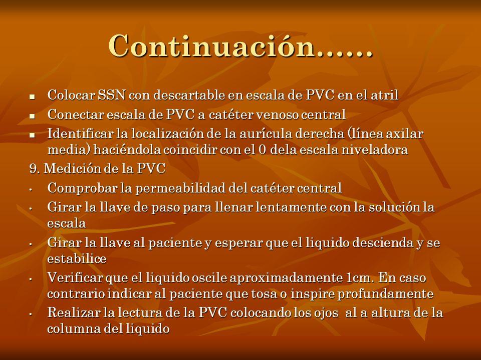 Continuación…… Colocar SSN con descartable en escala de PVC en el atril Colocar SSN con descartable en escala de PVC en el atril Conectar escala de PV