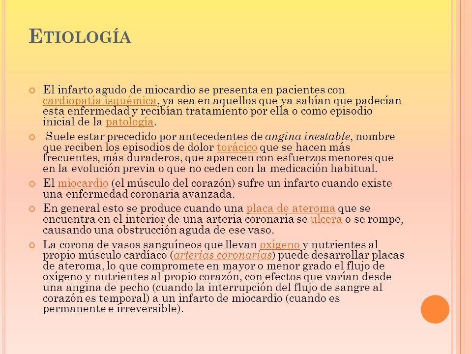 A L LLEGAR A LA SALA DE EMERGENCIA : Trombolíticos.
