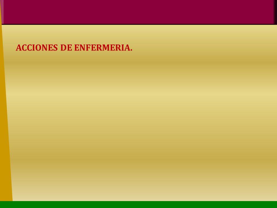 ACCIONES DE ENFERMERIA.