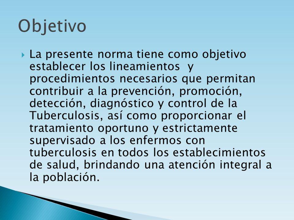 La presente norma tiene como objetivo establecer los lineamientos y procedimientos necesarios que permitan contribuir a la prevención, promoción, dete