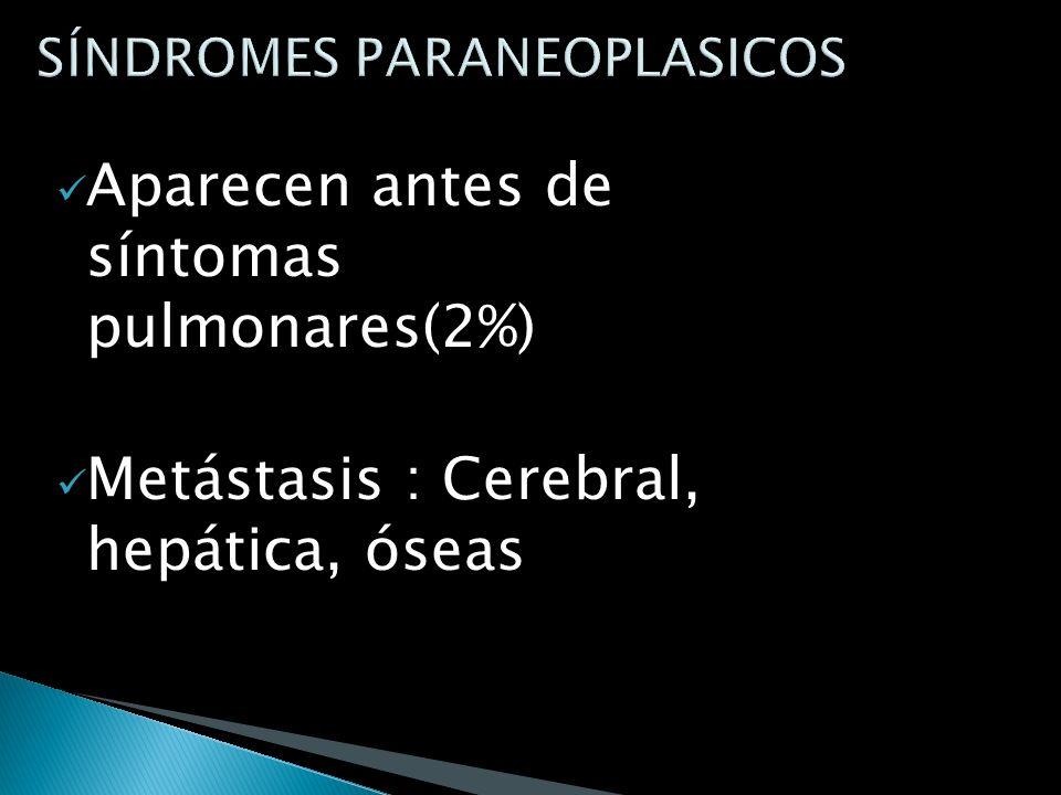 Complicaciones: Obstrucción de la vena cava inferior Afectación del plexo braquial Derrame pleural y neumonitis Insuficiencia cardíaca Arritmia Disfon