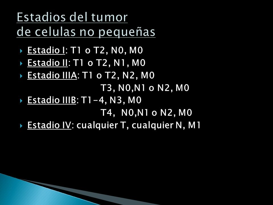 METASTASIS M0: indetectable M1: con MTS