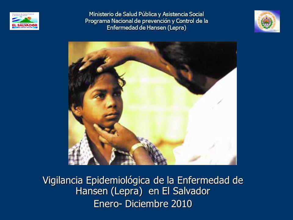 Tasas de Detección de Casos de Lepra por Año Departamento Cabañas 1996 – Enero 2011 Tasa por 10,000 Fuente : Programa Nacional de Lepra